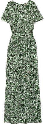 MICHAEL Michael Kors Cold-shoulder Printed Satin-jersey Maxi Dress