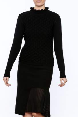Lucy Paris Long Sleeve Mock Turtleneck Sweater