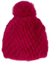 Barneys New York Women's Mink & Fox Fur Beanie - Pink