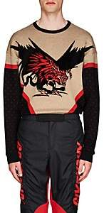 Givenchy Men's Dragon-Motif Wool-Blend Sweater - Black
