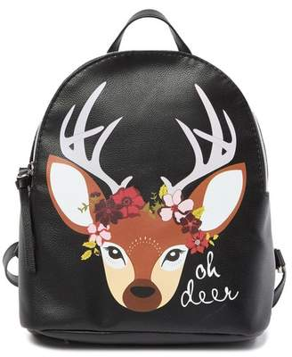 T-Shirt & Jeans Floral Deer Small Backpack