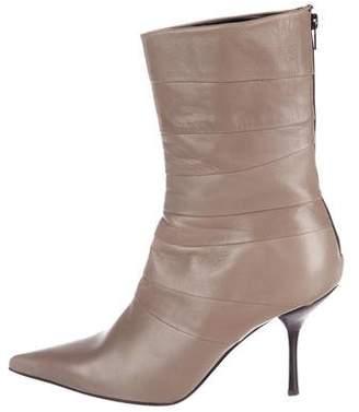 Sebastian Milano Leather Mid-Calf Boots