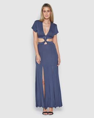 Indigo Twisted Dress