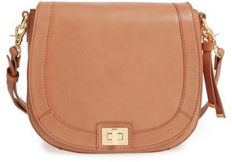 Brahmin Sonny Southcoast Leather Crossbody Bag - Beige $285 thestylecure.com