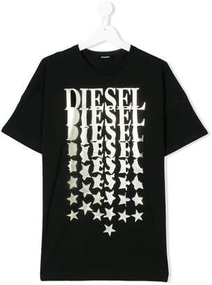 Diesel logo star printed T-shirt