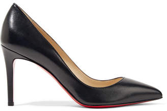 Christian Louboutin - Pigalle 85 Leather Pumps - Black $675 thestylecure.com