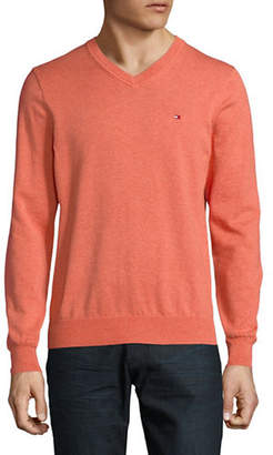 Tommy Hilfiger Pima Cotton V-Neck Sweater
