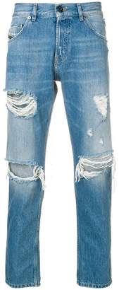 Diesel Black Gold slim-fit ripped jeans