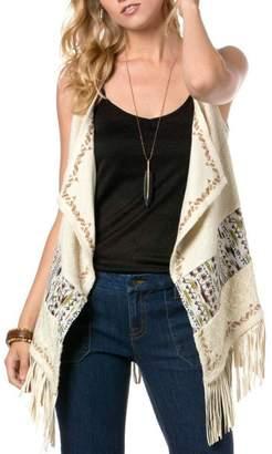 Miss Me Embroidered Fringe Vest