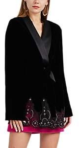 Alexander Wang Women's Velvet Robe Jacket - Black