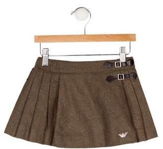 Armani Junior Girls' Metallic Pleated Skirt