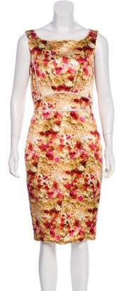 Zac Posen Floral Print Sheath Dress