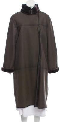 Yves Salomon Shearling Long Coat