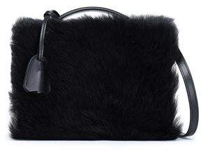 Mark Cross Leather And Shearling Shoulder Bag