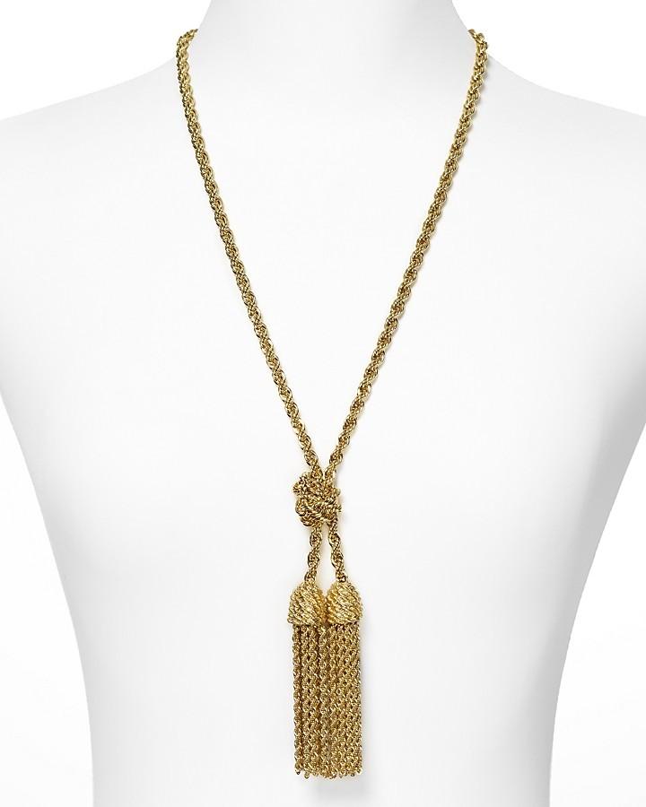 """Kate Spade Fringe Benefits"""" Necklace, 26.5"""""""