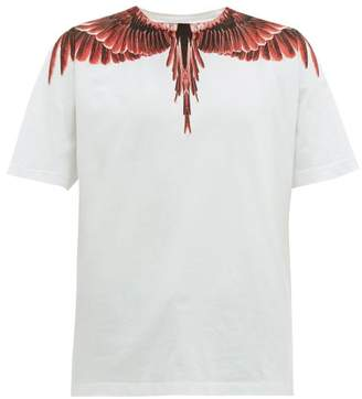 Marcelo Burlon County of Milan Ghost Wings Print Cotton T Shirt - Mens - Red White