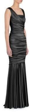 Dolce & Gabbana Ruched Stretch Satin Gown