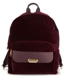 Zac Posen Eartha Classic Velvet Backpack