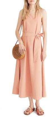 Madewell Apron Tie Waist Dress
