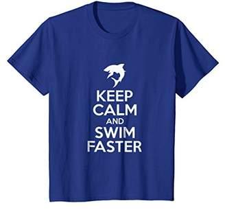 Keep Calm And Swim Faster Shark Swimmer T Shirt