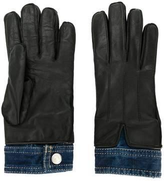 DSQUARED2 denim insert gloves