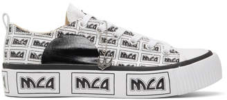 McQ White All Over Metal Logo Plimsoll Platform Low-Top Sneakers