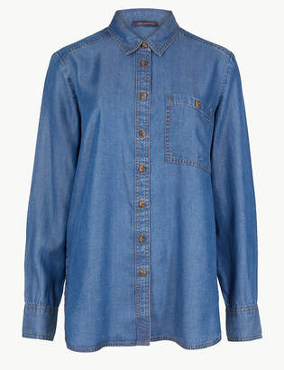 Marks and Spencer Button Detailed Patch Pocket Shirt