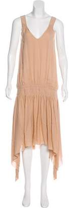 Elizabeth and James Silk Sleeveless Maxi Dress