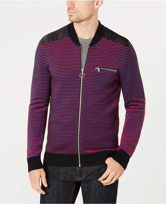 INC International Concepts I.N.C. Men's Daily Mix Full Zip Sweater, Created for Macy's