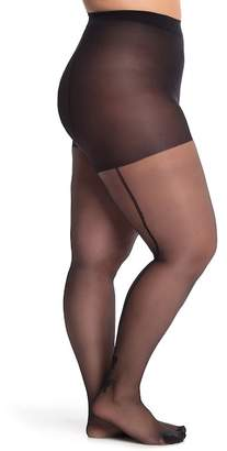 Pretty Polly Bow Detail Back Seam Tights (Plus Size)