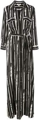 L'Agence chain print dress