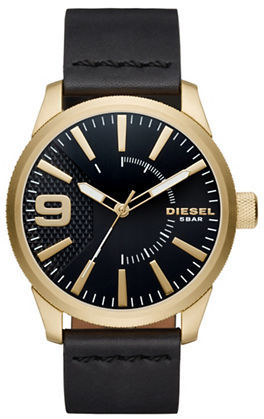 Diesel Diesel NSBB Goldtone Stainless Steel & Leather Strap Watch
