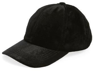 Women's Berry Velvet Baseball Cap - Black $32 thestylecure.com