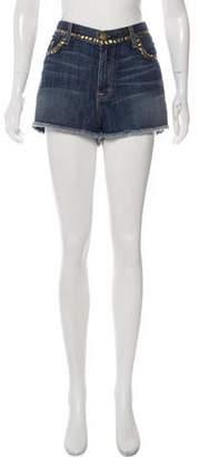 Current/Elliott Studded High-Rise Shorts