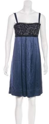 BCBGMAXAZRIA Beaded Silk Dress