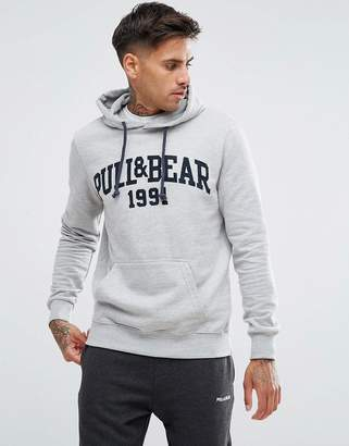 Pull&Bear Hoodie With Logo In Grey