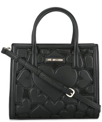 Love Moschino heart-embroidered tote