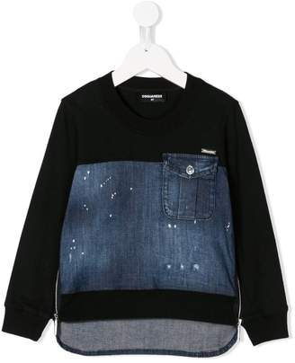DSQUARED2 long-sleeve layered sweatshirt