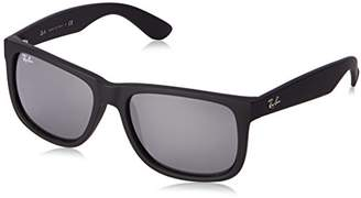 Ray-Ban Justin Colour Mix RB4165 622/6G Sunglasses Frame/Grey Mirror Silver Lens 55mm