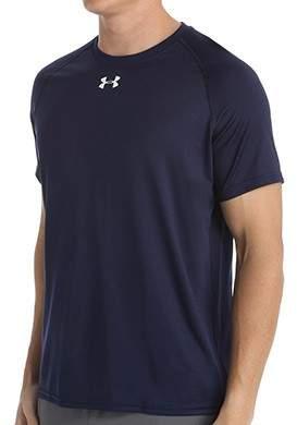 Under Armour 1268471 HeatGear Locker Short Sleeve T-Shirt (Midnight Navy/White L)