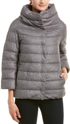 Herno Cashmere & Silk-Blend Puffer Down Jacket