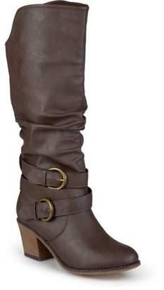 Co Brinley Women's Wide Calf Slouch Buckle High Heel Boots