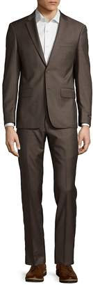 John Varvatos Men's Plain Wool Suit
