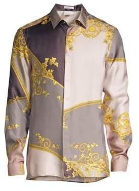 Versace Vintage Print Silk Shirt