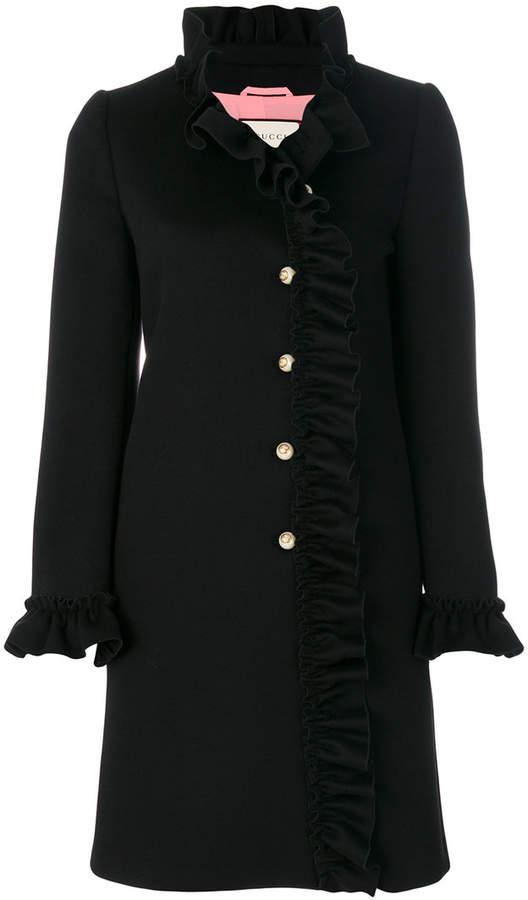 Gucci ruffle trimmed coat