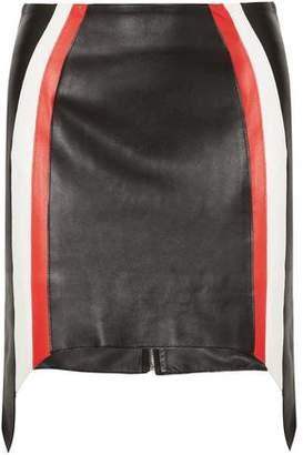 Thierry Mugler Striped Leather Mini Skirt