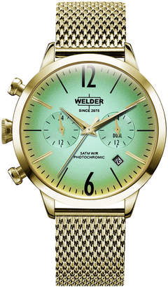 Welder Women Gold-Tone Stainless Steel Mesh Bracelet Watch 38mm