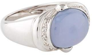 Ring 14K Diamond & Chalcedony