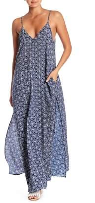 Elan International Patterned V-Neck Maxi Dress