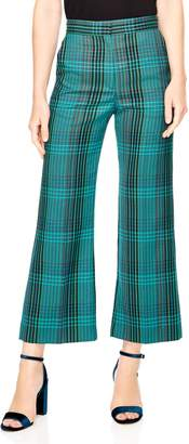 Sandro Otis Plaid Crop Pants